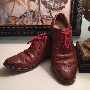 COLE HAAN Men's Oxford Wingtip Shoe, 9.5D
